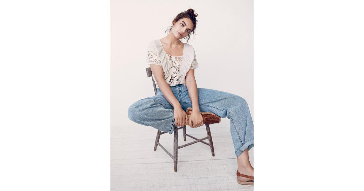0ee77440 Free People Levi's Big Baggy Jeans in Blue - Lyst