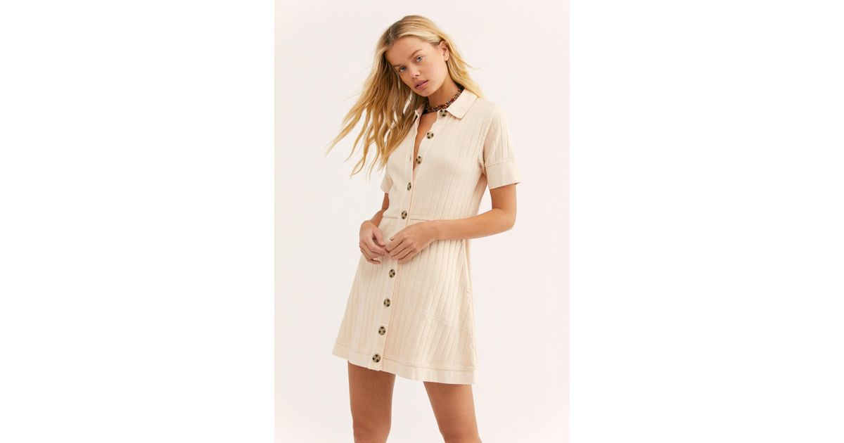 3b62d3d156 Free People New Afternoon Mini Dress By Fp Beach in Natural - Lyst