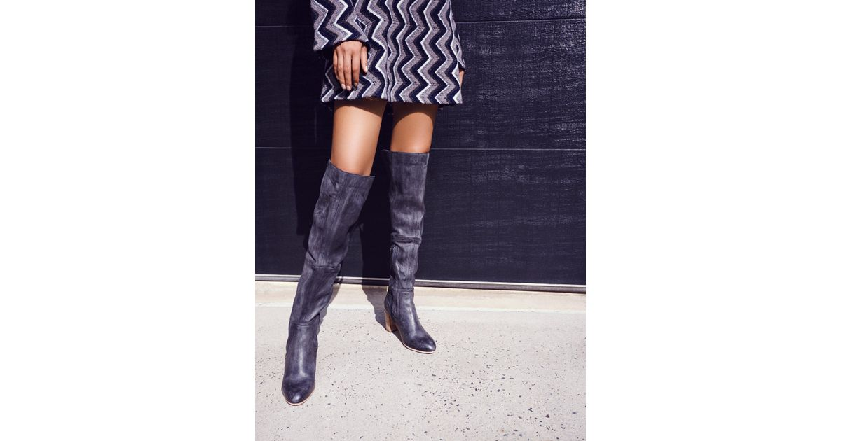 1d35fe37318 Lyst - Free People Jack Over The Knee Boot in Black