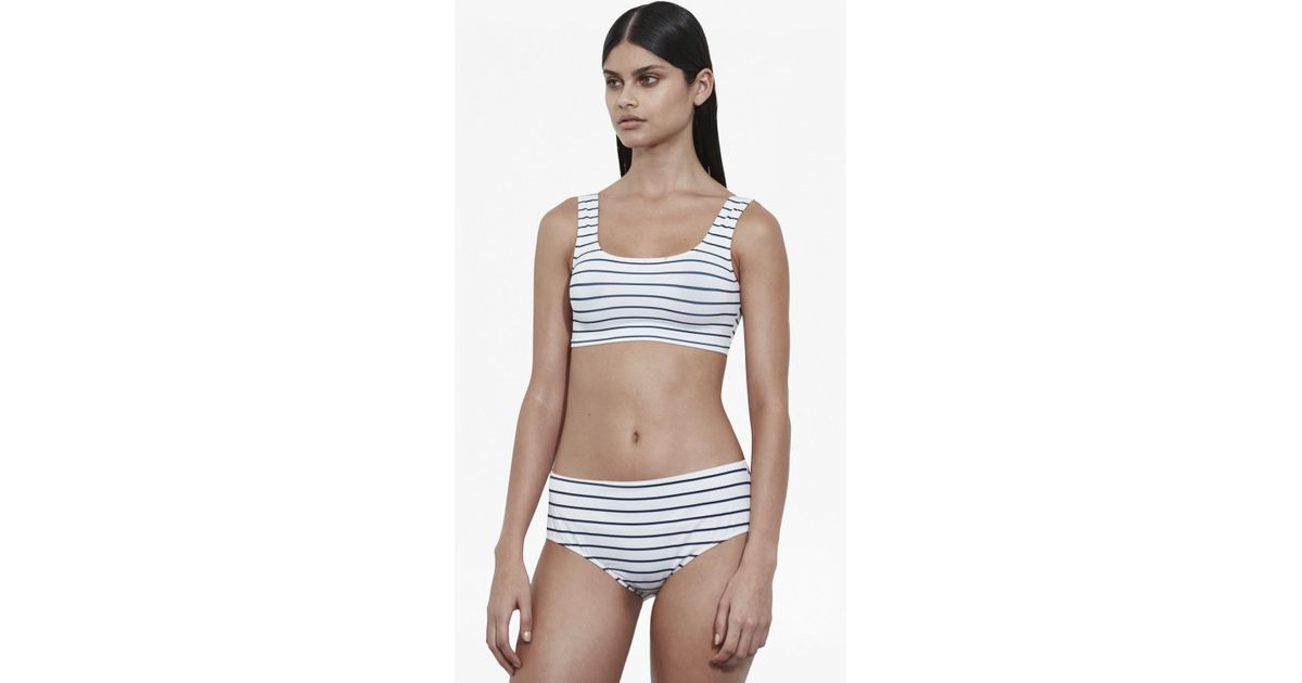 f0862fe01b47d8 French Connection Scoop Neck Tank Bikini Top - Lyst