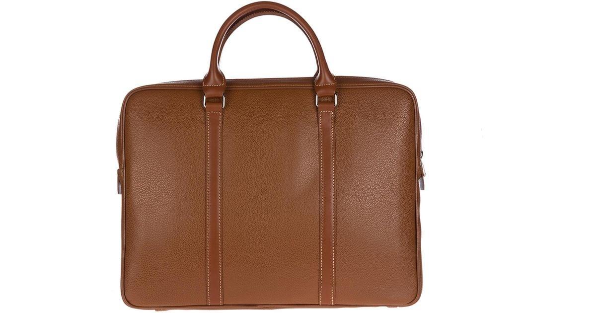 60f7d77af2db Longchamp Briefcase Attaché Case Laptop Pc Bag Leather in Brown for Men -  Lyst