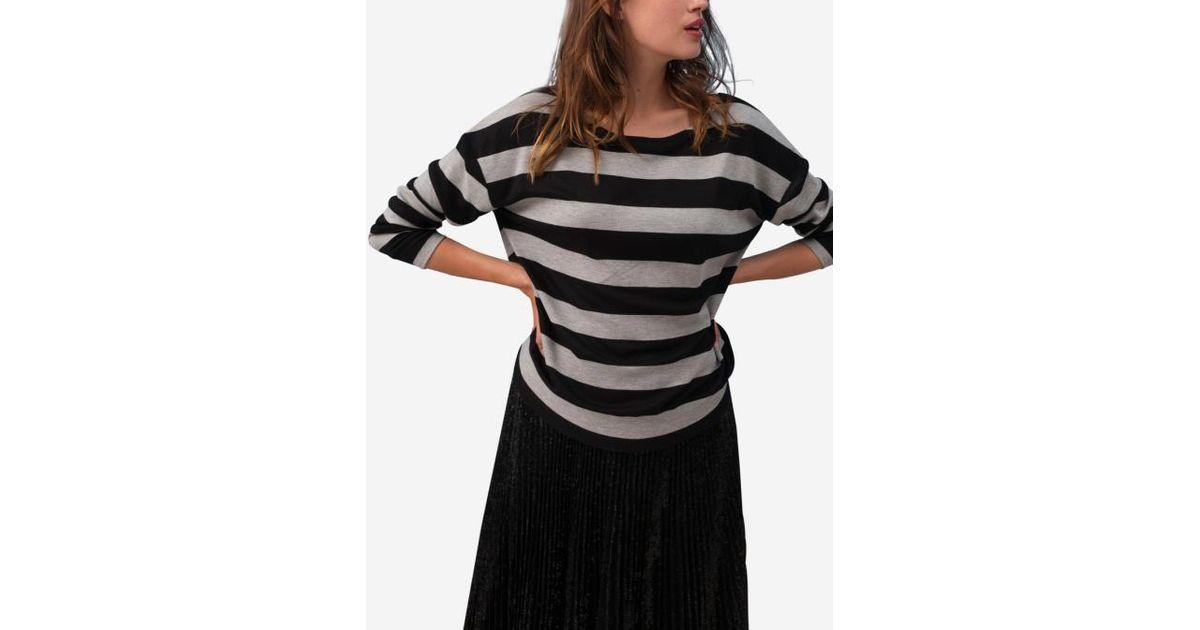 642e1801ba8 Caroll T En Kendra Noir Coloris Shirt Lyst wOTSPq