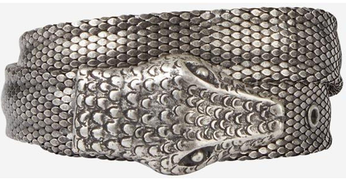 5dc7834dd65 Lyst - Ceinture en métal façon python The Kooples en coloris Métallisé