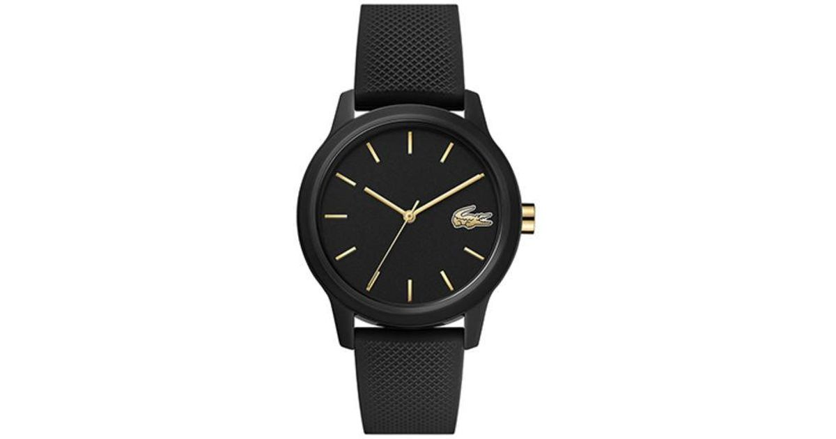 En Lacoste Femme Montre Coloris Black 12 12 WE2ID9YeH