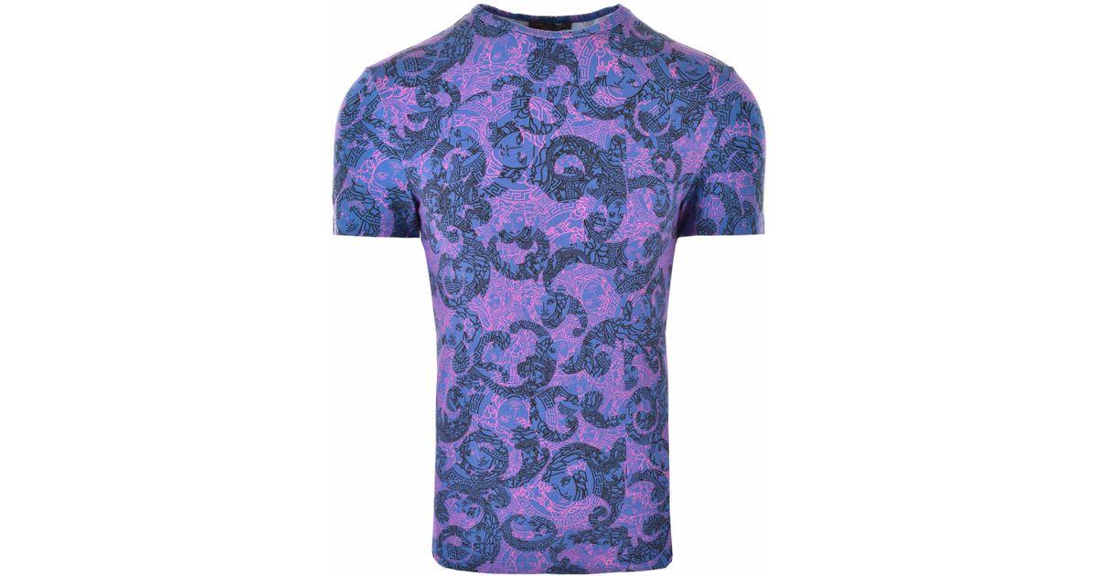 3b33d7aa0 Versace Olympus Print Medusa T-shirt Blue/print in Blue for Men - Lyst