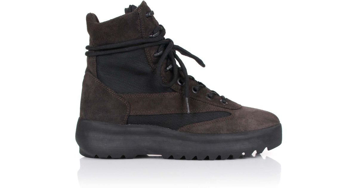 2135bc3c768515 Lyst - Yeezy Season 5 Military Boots Oil in Black for Men