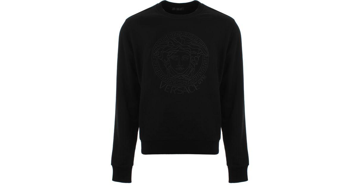 Versace Medusa Gym Sweatshirt Black In Black For Men Lyst
