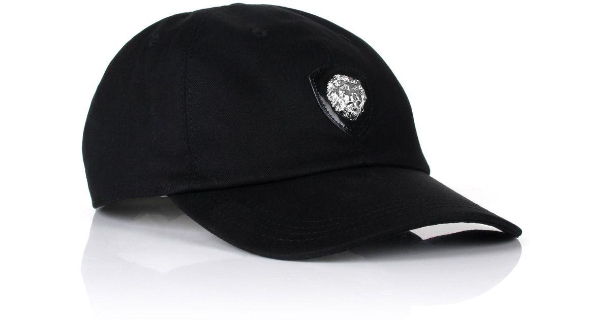 61c7dcb8514 Lyst - Versus Lion Head Badge Baseball Cap Black in Black for Men