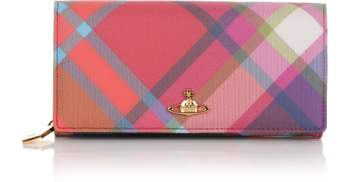 e1633a5a590 Vivienne Westwood Derby 1032 Large Long Purse Harlequin in Pink - Lyst