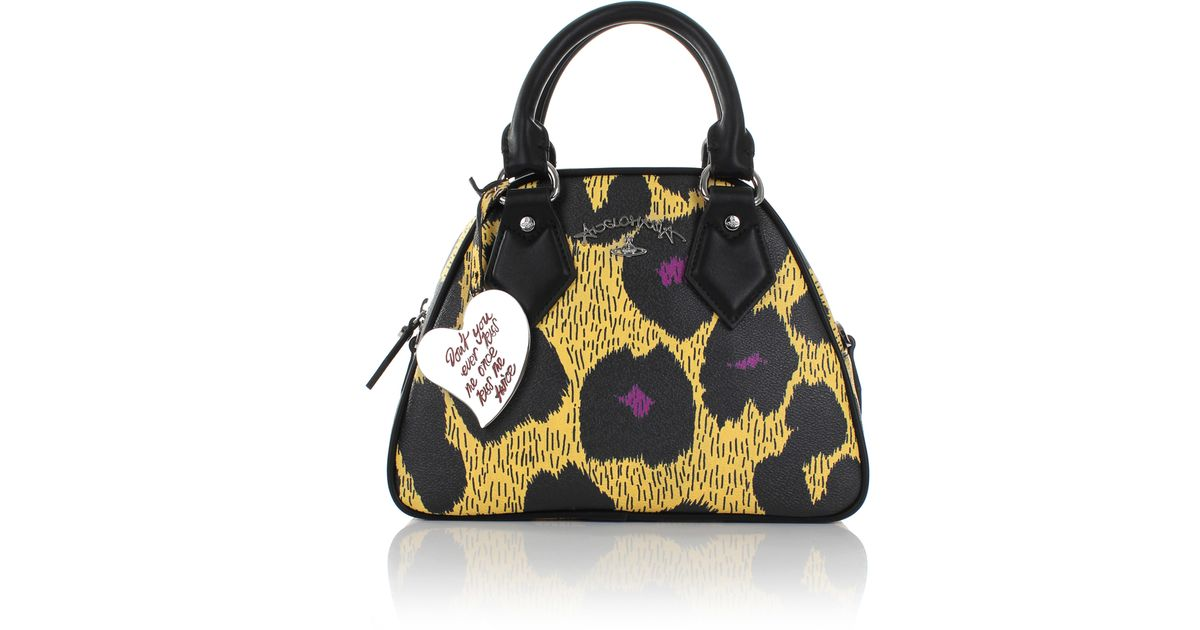 09bd1fb919 Vivienne Westwood Leopardmania 13947 Yasmine Bag Yellow in Yellow - Lyst