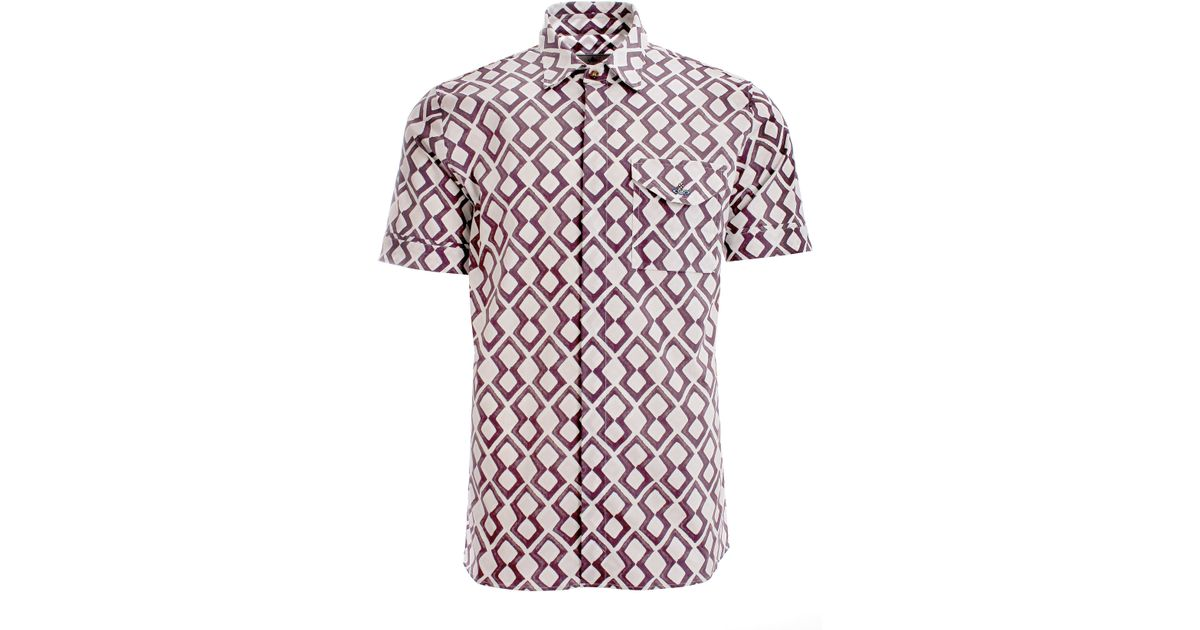 Vivienne westwood diamonds street shirt pink in pink for for Diamond and silk t shirts