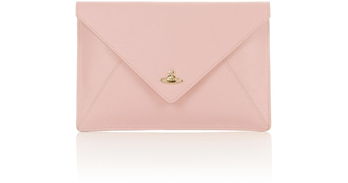 3ccc9f2a2738e Lyst - Vivienne Westwood Pouch 7040 Envelope Clutch Pink in Pink