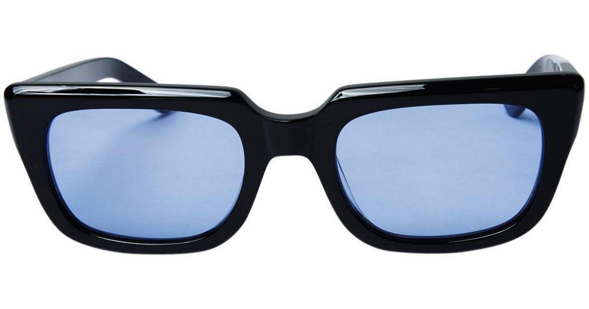 e0884f7a88 Ksubi K Serpent Shiny Black Blue Tint Sunglasses in Black for Men - Lyst