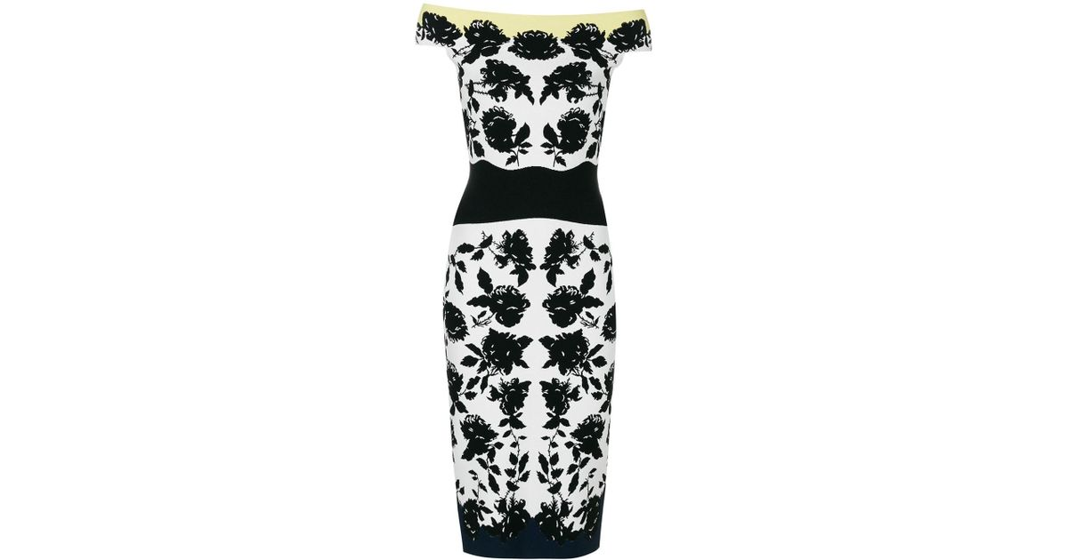 floral print fitted dress - White Alexander McQueen ZXMt0SQqW