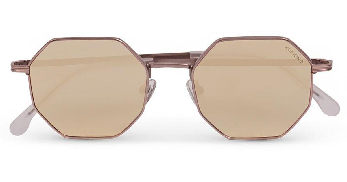 34e829acf32a Lyst - Komono Monroe Rose Gold Sunglasses