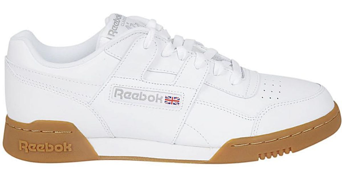52f72c841fdaa Lyst - Reebok Workout Plus White Sneakers in White for Men - Save 58%