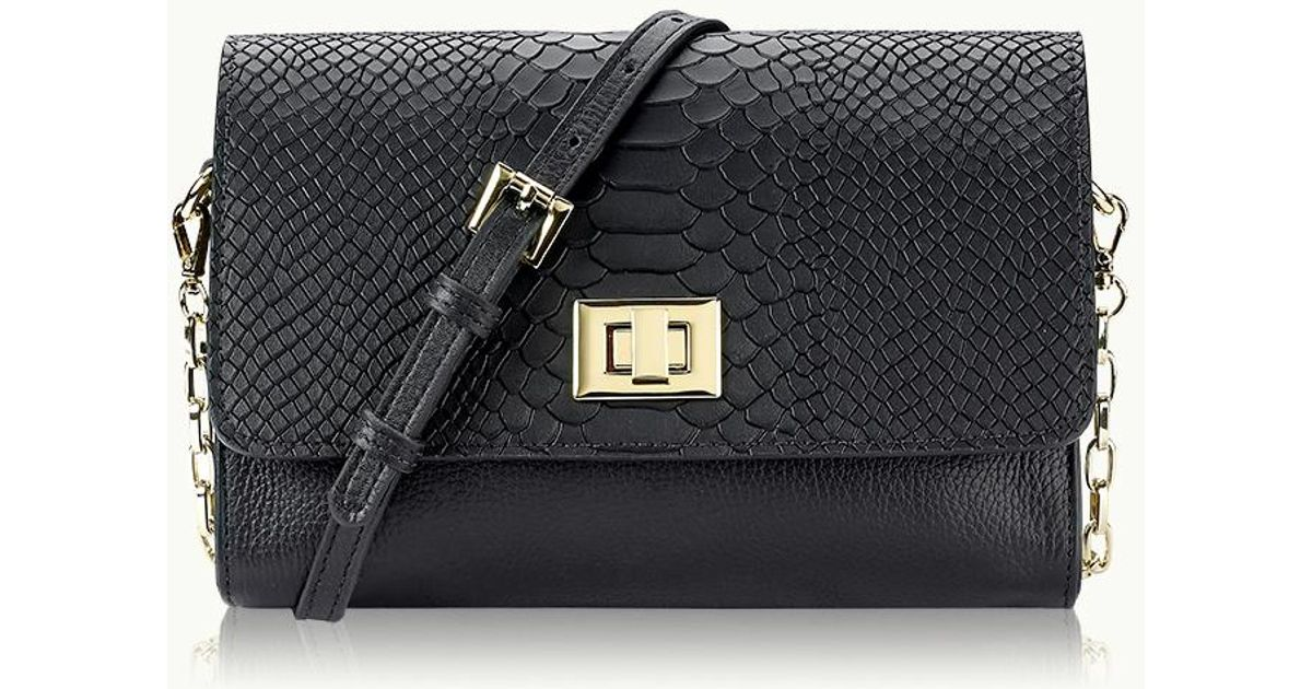 06b27f5c96c4 Lyst - Gigi New York Catherine Crossbody in Black