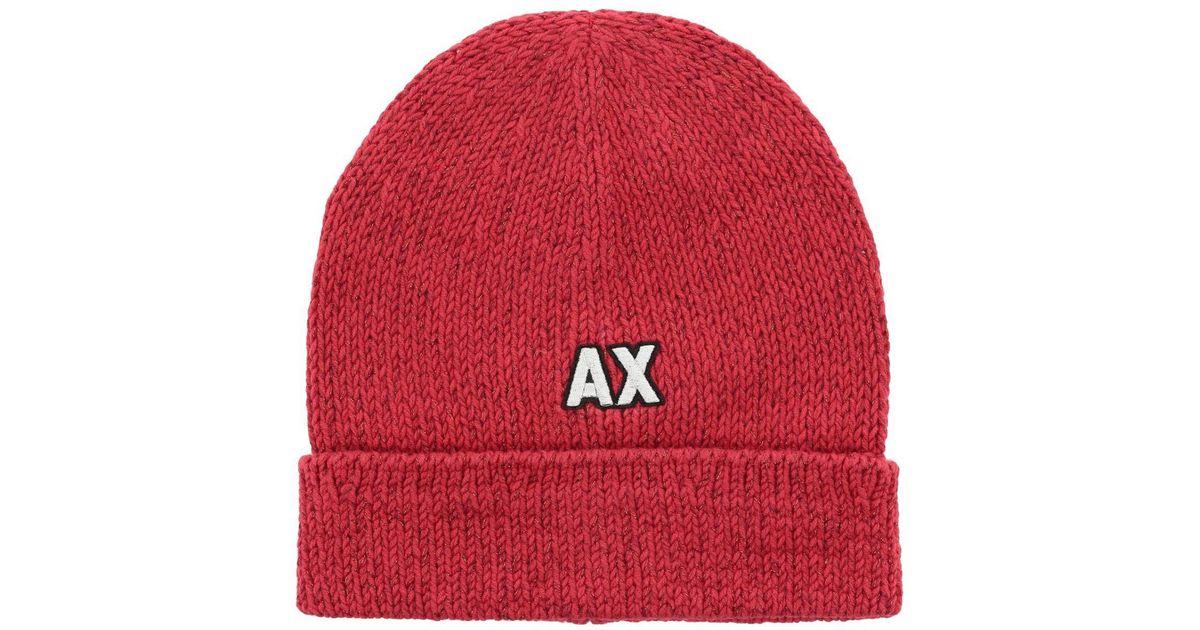 9fa0d8159fd Lyst - Armani Exchange Hat Women in Red