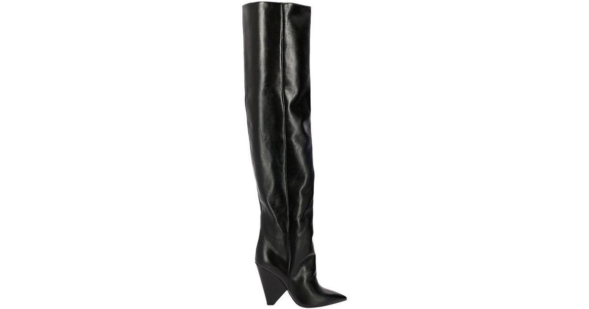 4ebb39122e1 Saint Laurent Shoes Women in Black - Lyst