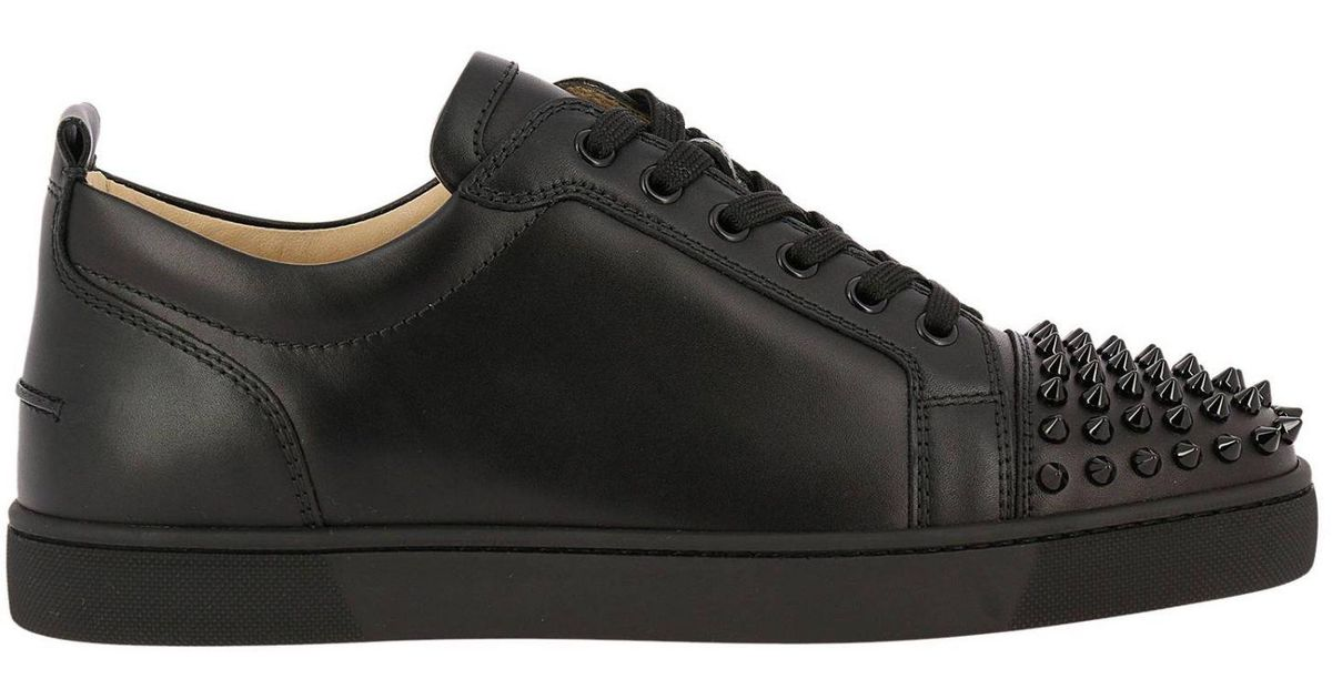 b021a9ea1dab Christian Louboutin Sneakers Shoes Men in Black for Men - Lyst