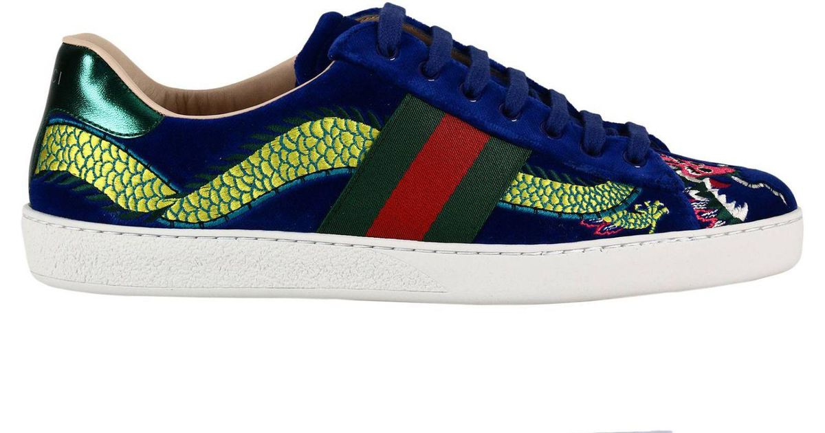 7ad39aea4 Gucci Sneakers Shoes Men in Blue for Men - Lyst