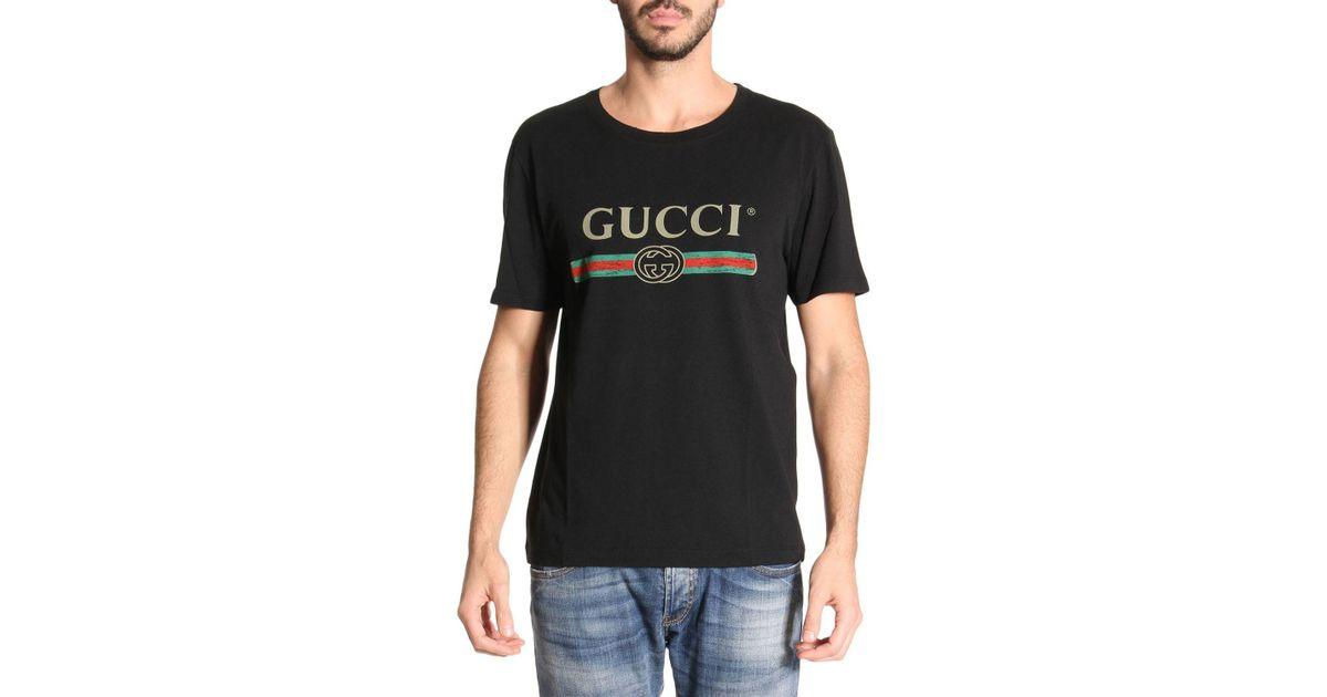 b66eb1b917c Lyst - Gucci T-shirt Men in Black for Men