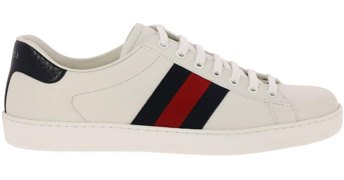 Gucci Sneakers Shoes Men In White For Men Lyst