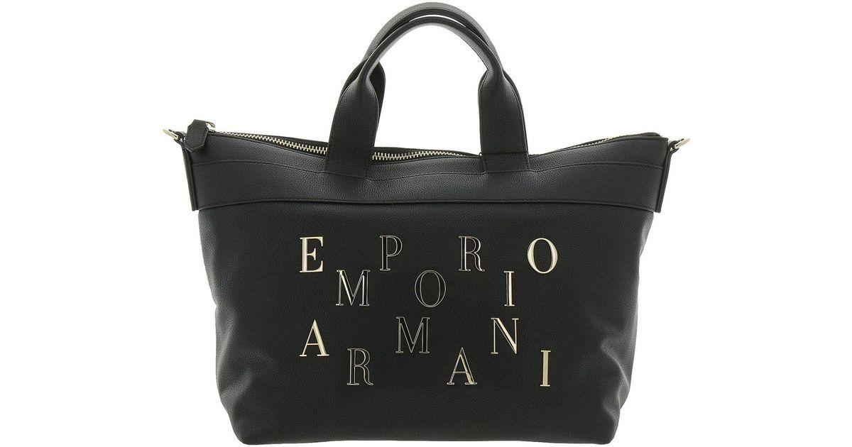 Emporio Armani Handbag Shoulder Bag Women in Black - Lyst 90a0a160fceae