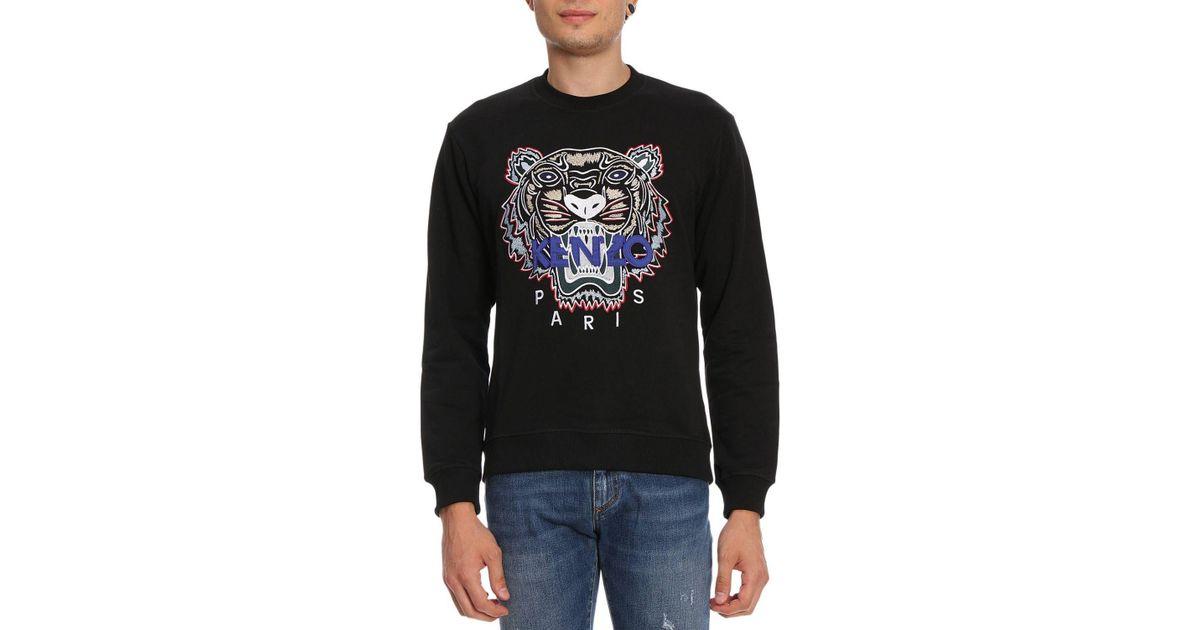 Black Lyst Kenzo Sweatshirt Homme For Men ARj54L