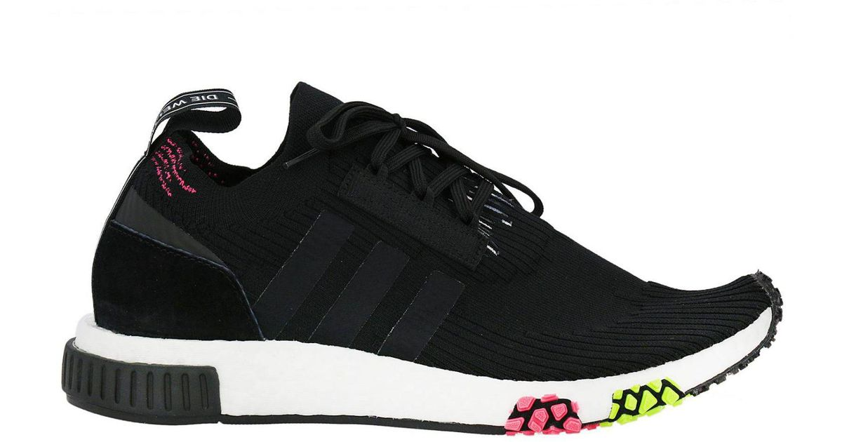 7f5c8462bce0b Lyst - adidas Originals Nmd-racer Primeknit Men s Sneakers With Contrasting  Shaped Plus in Black for Men