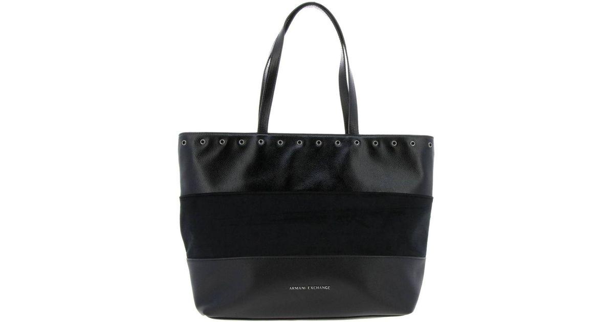 8036ffd9dc2 Armani Exchange Handbag Women in Black - Lyst