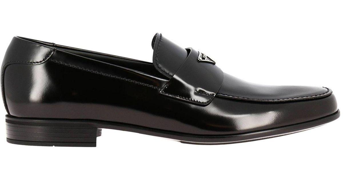 278c36ffccc Lyst - Prada Loafers Shoes Men in Black for Men