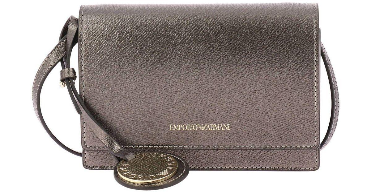 7ce29e75abd2 Lyst - Emporio Armani Mini Bag Shoulder Bag Women in Gray