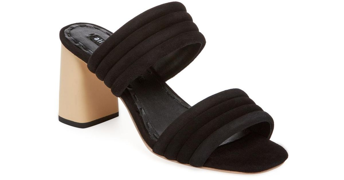 107d2070794e Lyst - Alice + Olivia Colby Leather Sandal in Black