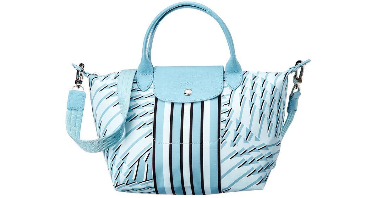 Lyst - Longchamp Le Pliage Neo Pastel Small Nylon Top Handle Tote in Blue 0d2fa2898306d