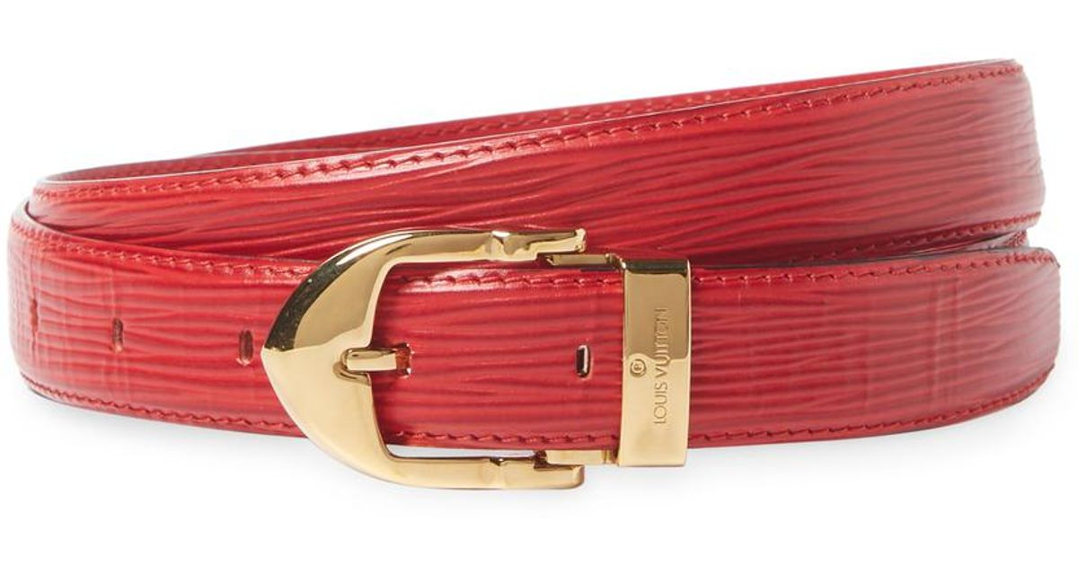 Lyst - Louis Vuitton Vintage Red Epi Ceinture Classic Belt in Red 674447d16fc