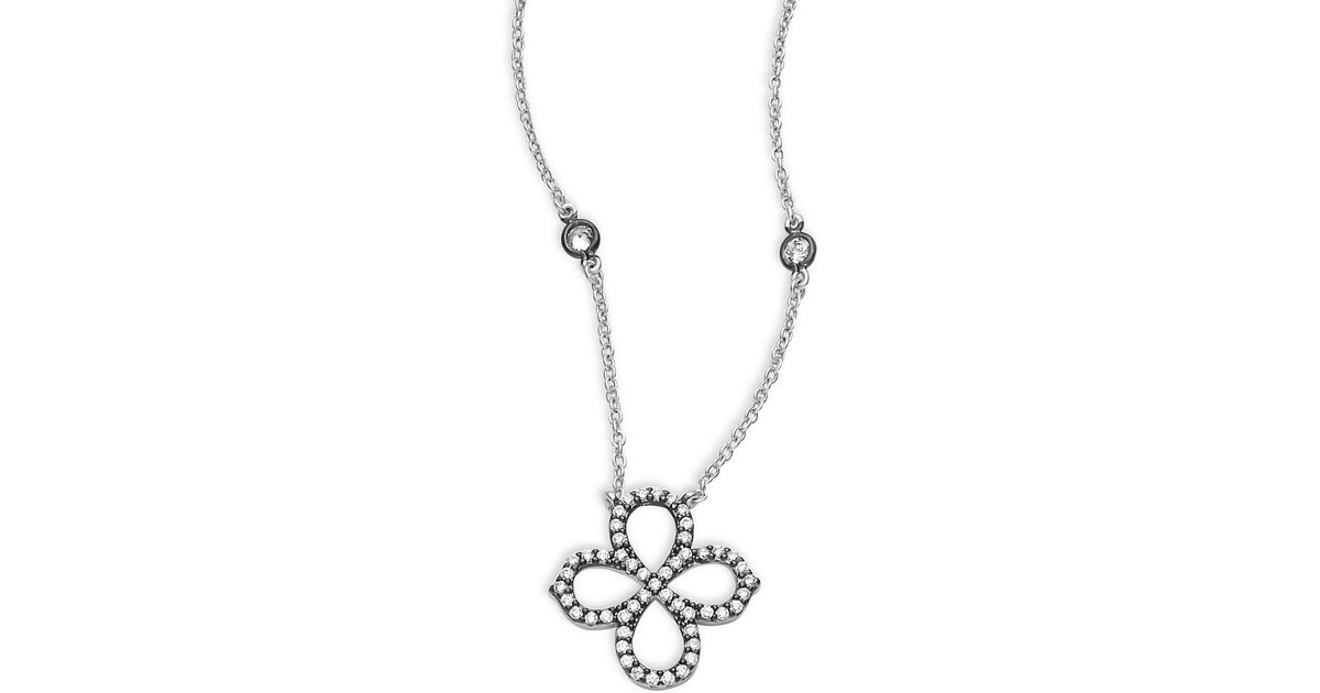 Lyst freida rothman classic sterling silver clover pendant lyst freida rothman classic sterling silver clover pendant necklace in metallic aloadofball Image collections