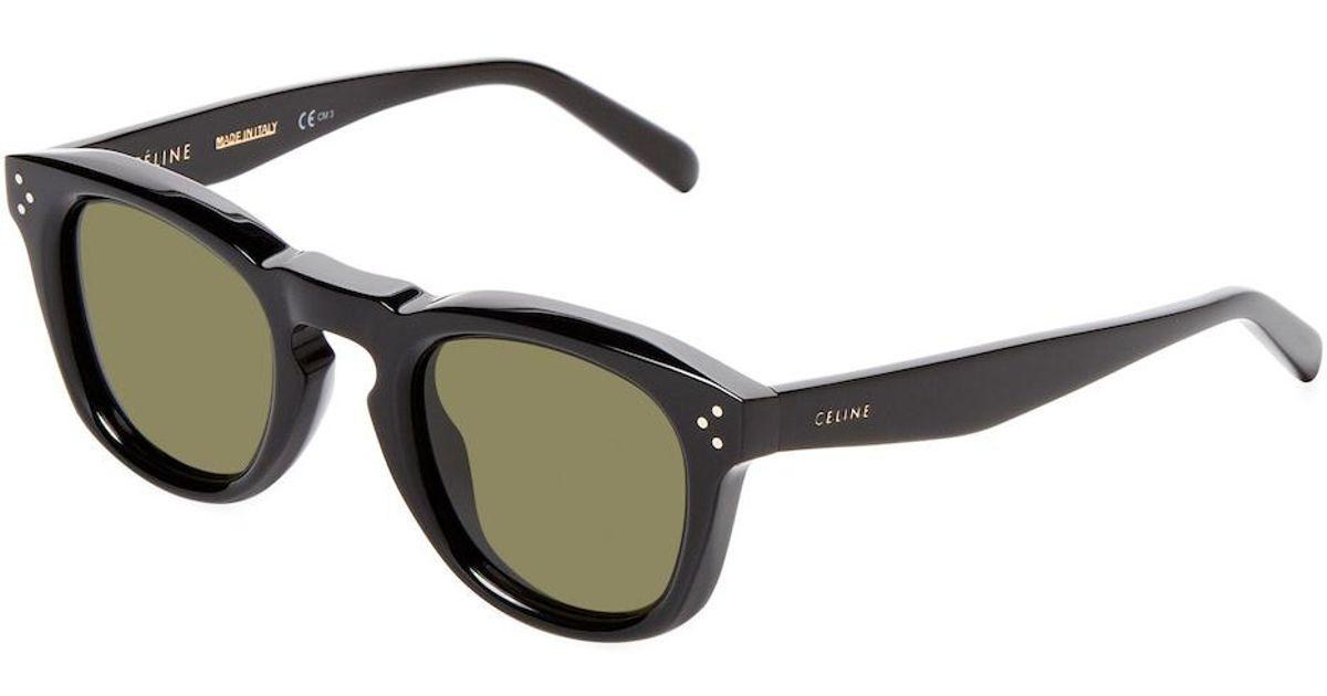 54319471834 Lyst - Céline Bevel Keyhole Square Frame in Black