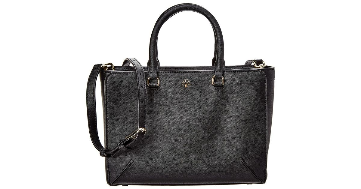 b420724afdf Tory Burch Emerson Small Zip Leather Shoulder Bag in Black - Lyst
