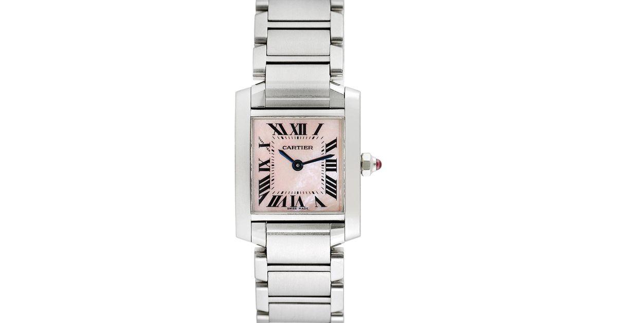 4bde57228eea Lyst - Cartier Vintage Cartier Tank Francaise Stainless Steel Watch ...