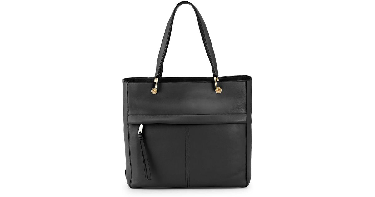 bdd1e32db93e Lyst - Cole Haan Kathlyn Leather Work Tote in Black