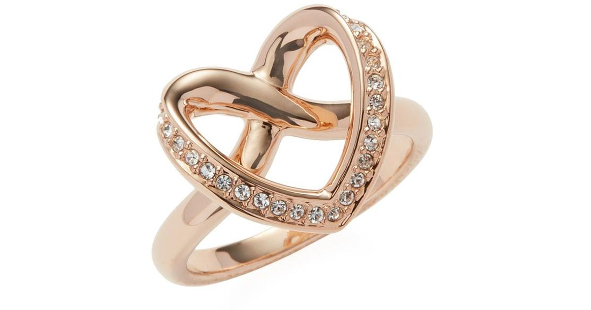 Swarovski Cupidon Pavé Outline Heart Trend Ring