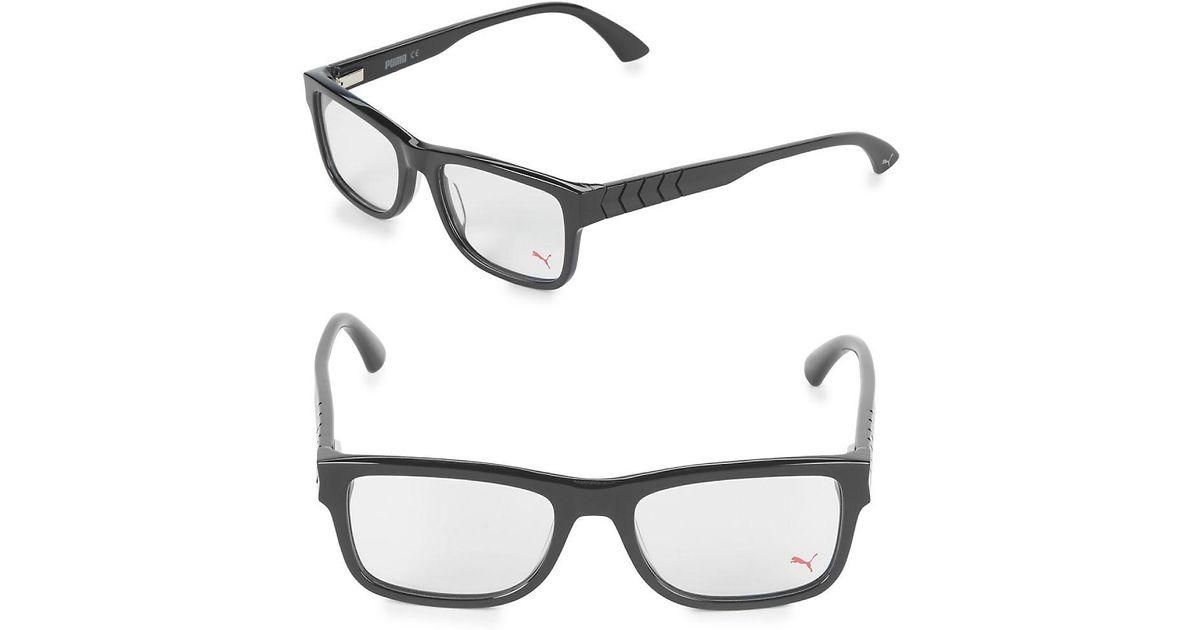 Lyst - Puma 53mm Square Optical Frames in Black