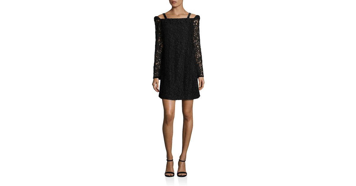 Lyst See By Chlo Lace Cold Shoulder Dress In Black