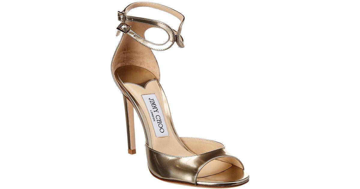 pretty nice 2eaf8 97fc5 jimmy-choo-GOLD-Lane-100-Leather-Sandal.jpeg