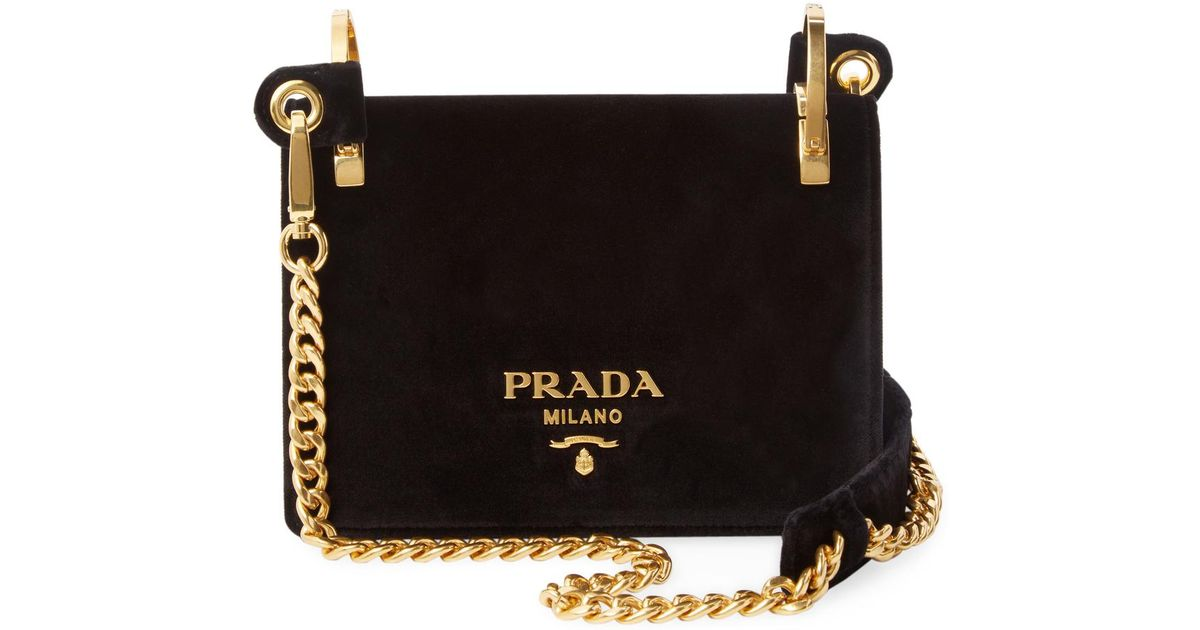 Lyst - Prada Chain Shoulder Bag in Black