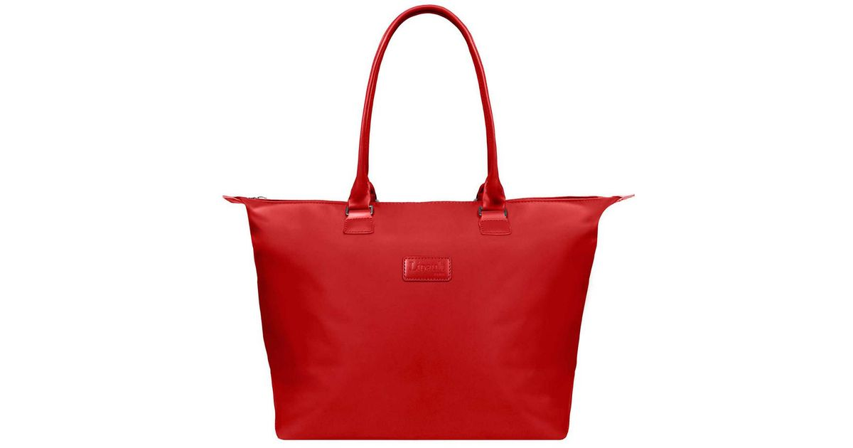 1aefd9d4cf59 Lyst - Lipault Lady Plume Tote Bag M (duck Blue) Bags in Red - Save  62.10526315789474%
