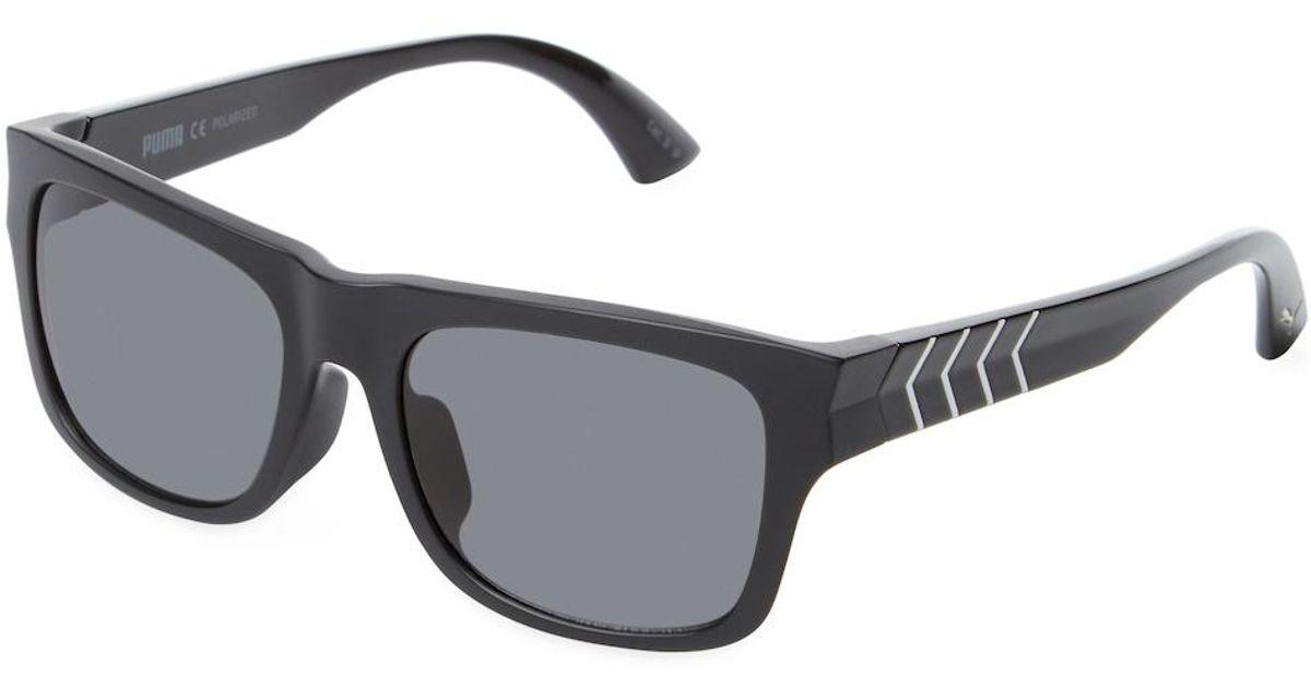 Lyst - Puma Injection Tinted Wayfarer Frame in Black for Men
