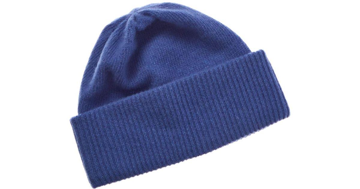 5af7a4a7e68f3 Portolano Cashmere Hat in Blue - Lyst