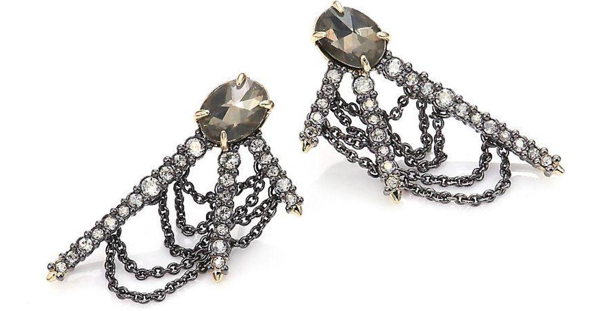 Alexis Bittar Draped Crystal Fringe Post Earrings rs48nmog